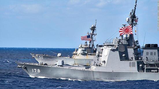 日本自卫队去年25次保卫美军舰机 助其收集情报