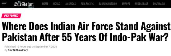 外媒:印军有了阵风仍落后 巴铁枭龙已用上5代机技术