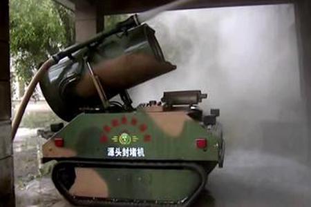 我火箭军装备防化机器人