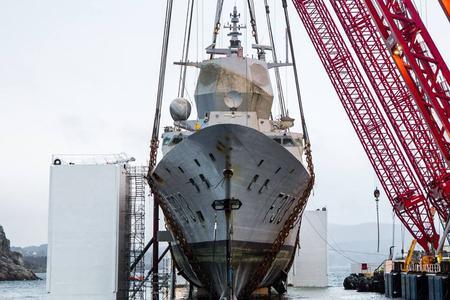 挪威大修海里泡4个月军舰