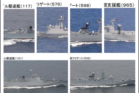 6艘中國軍艦穿過宮古海峽