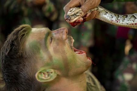 米畜大兵在印尼学茹毛饮血