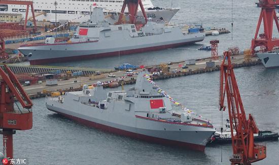 按照现在的建造速度,2020年左右,这两艘驱逐舰就能竣工入役