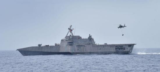 美媒:美军可将濒海战斗舰改高速武装运输船对付中国
