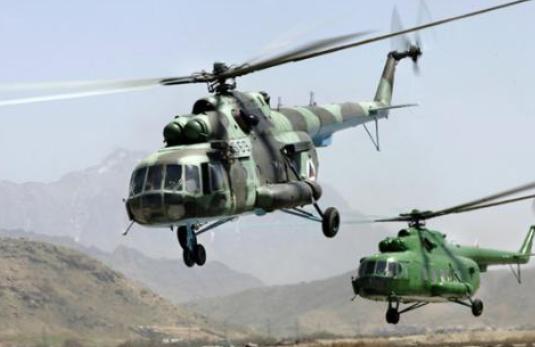 阿富汗军队1架直升机降落时被导弹击中 4名士兵受伤