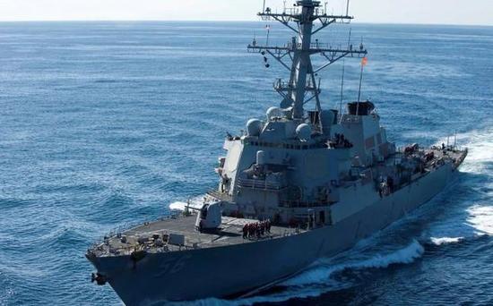 港媒:通过台湾海峡后 美军舰又闯南海西沙群岛