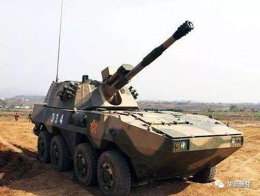 ▲ BK1990底盘基础上发展的122毫米自行榴弹炮,和PLL09的炮塔相比,还有一些相似之处