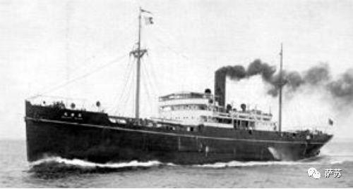 ▲ 筑波丸是一艘排水量3161吨的客货轮,最初是日本邮船公司在横滨下单订造的,1923年8月下水,1939年转入东亚海运公司,是日本运输船队中的主力船只之一,故此日军轻易不愿放弃