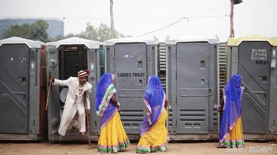 资料图:印度公厕