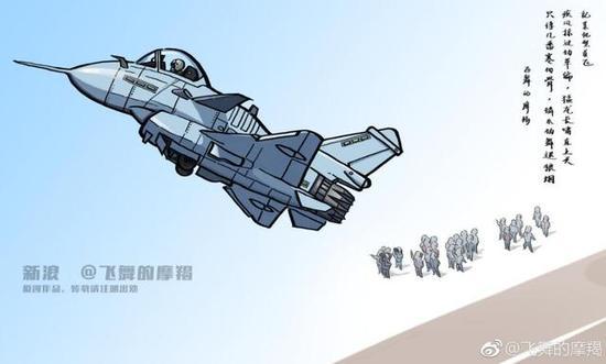 中国首款矢量喷口发动机搭载在歼-10上意想图