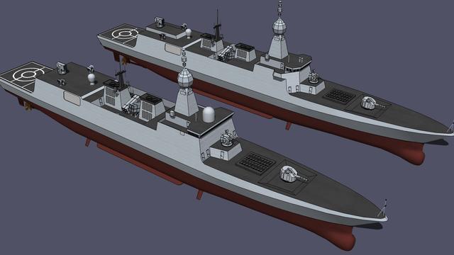 要用全电推进32垂发?我军054B护卫舰CG照神似055