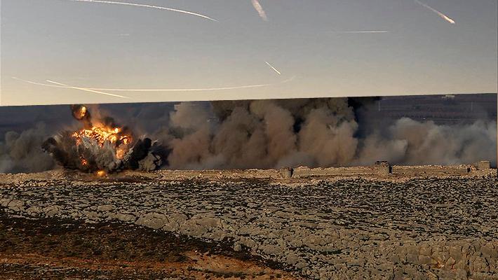 土耳其空袭叙利亚现场曝光 战机疯狂投弹硝烟弥漫