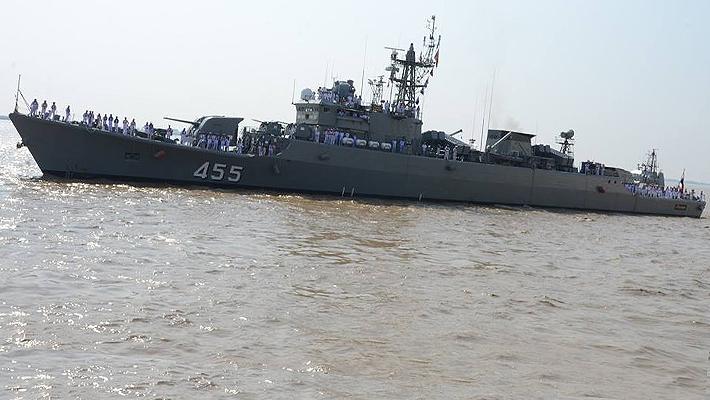在海外仍是一流!泰国海军主力053H2舰访问缅甸