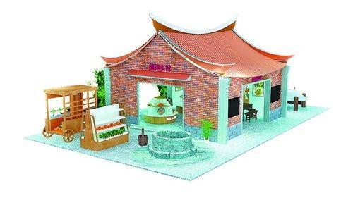 闽南建筑平面手绘