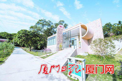 海沧鑫龙谷景区带有第三卫生间的公厕。