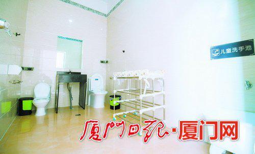 海沧鑫龙谷景区第三卫生间内部。