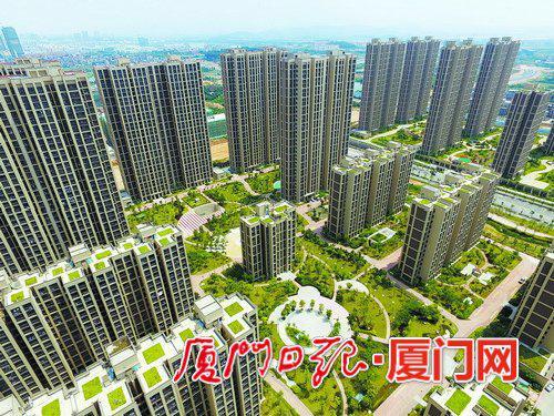 高楼林立的洋唐居住区。(资料图/记者张奇辉摄)