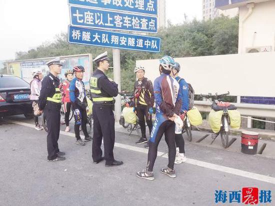 6名游客因骑单车进入翔安隧道被处罚。