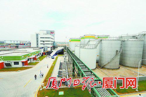 台湾佳格厦门葵花油生产项目厂区。