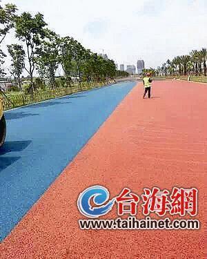 彩色马拉松跑道现身厦门环东海域 预计全长46公里