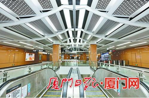 地铁1号线岩内站的内部装修已基本完成。