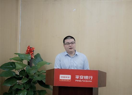 咕啦电商首席运营官许亚东发表讲话