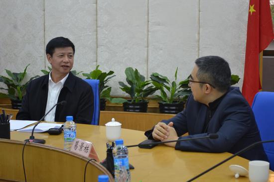 晋江市委书记刘文儒会见到访晋江的新浪副总裁葛景栋一行
