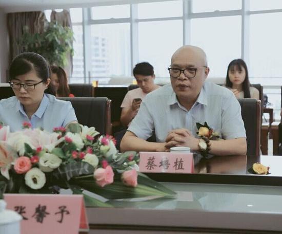 厦门国际邮轮母港总经理蔡培植发言