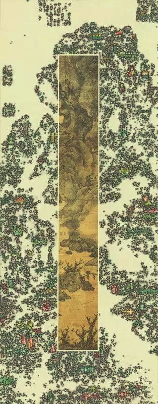 陈俊丨《经典•今典》系列9 现代水墨画 180×90 CM,2016年