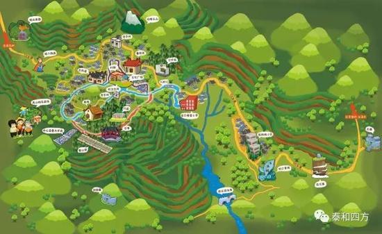 白交祠手绘地图