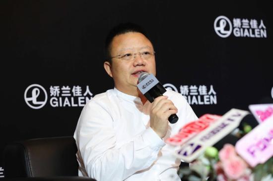 娇兰佳人董事长蔡汝青先生接受媒体采访