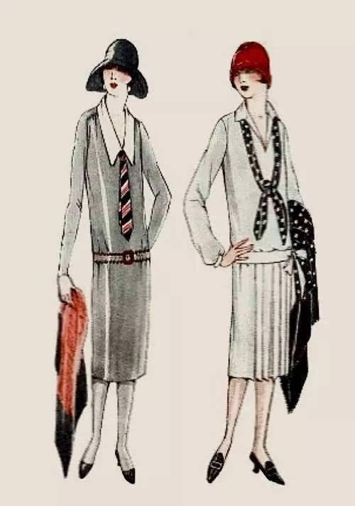 钟形帽是Flapper  Girls的标配