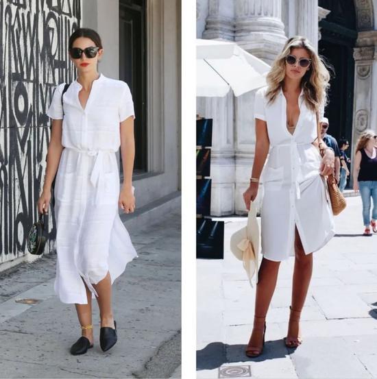 一件极简风衬衫裙 拯救夏季不知道穿什么好