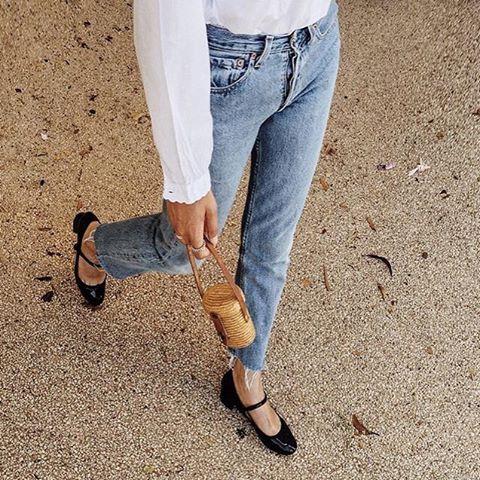 玛丽珍复古鞋街拍