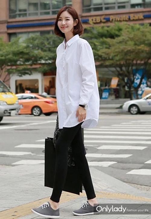 长款白衬衫