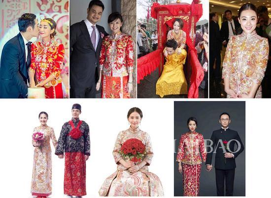 婚纱礼服,近年来中式传统礼服开始悄然盛行,从anglababy到刘诗诗无一图片