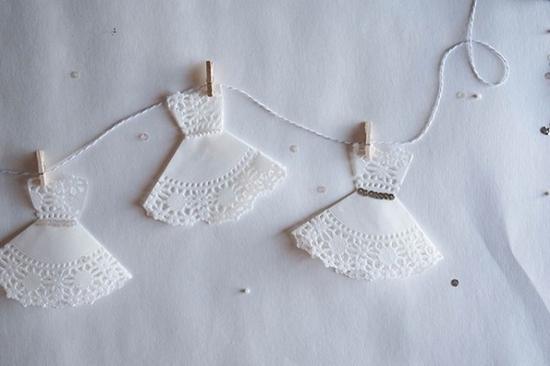 简单的剪纸和小木夹细绳