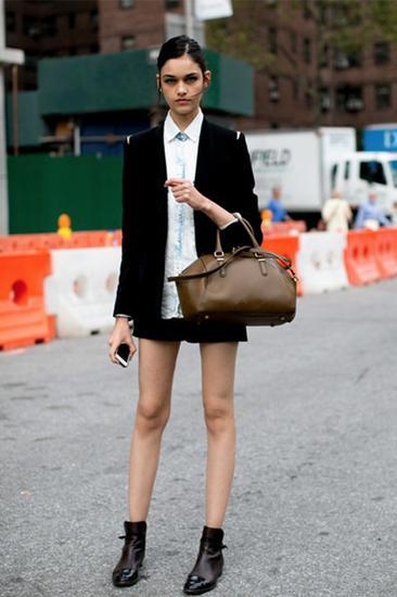 小西装+短靴