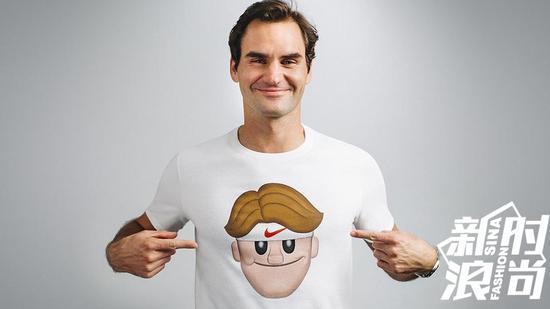 费天王与NIKE合作推出Federer emoji