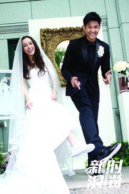 范玮琪穿白色跑鞋结婚