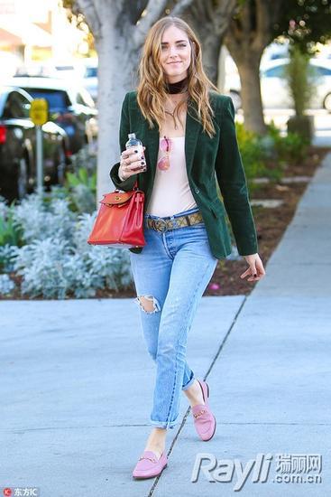 时尚博主 blogger Chiara Ferragni Hermes Kelly手袋