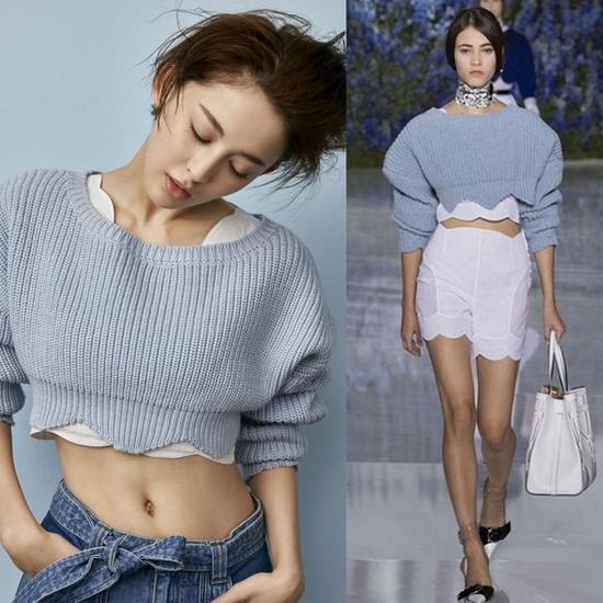 娜扎同款 Dior2016春夏毛衣