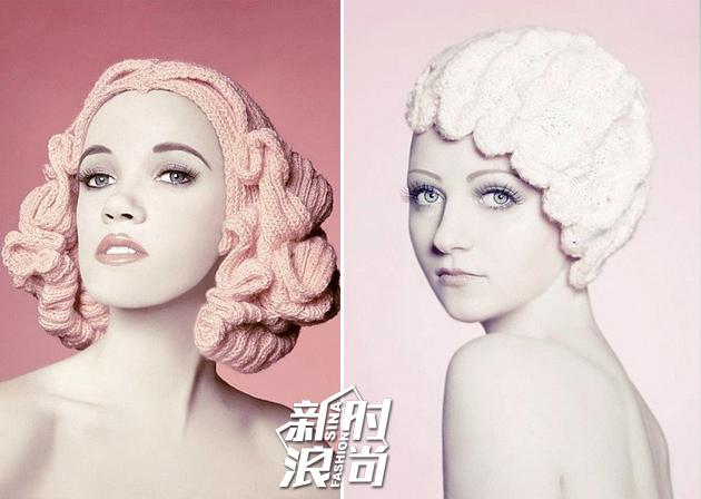 艺术家Louise Walker的针织头发