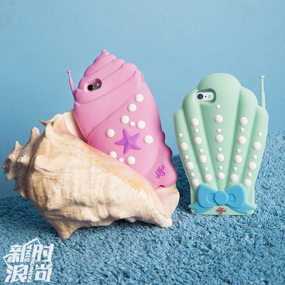 贝壳形状的手机壳