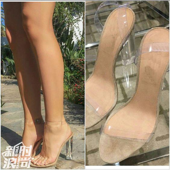 透明高跟鞋