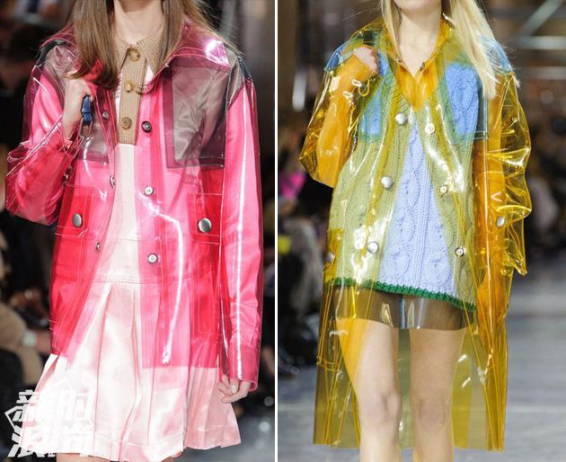 秀场中的透明材质衣服