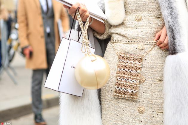 chanel的珍珠包包