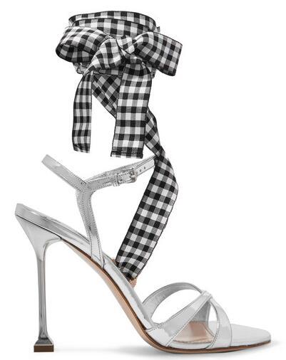 Miu Miu粗绑带高跟鞋