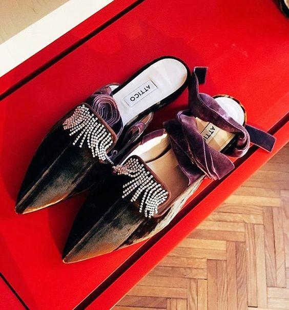 Attico绑带平底鞋