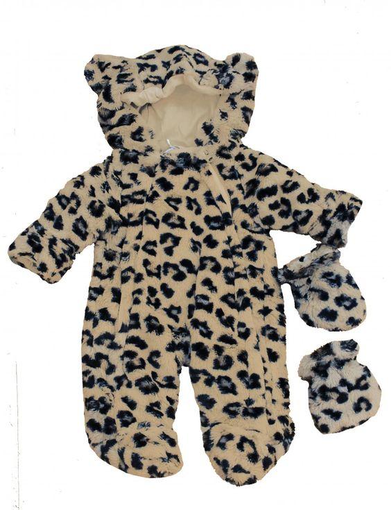 专为小朋友设计的豹纹连体衣